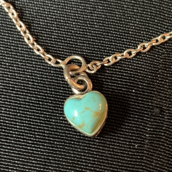 ca5f0a534f Vintage Jewelry | Turquoise Heart And Sterling Silver Anklet | Poshmark